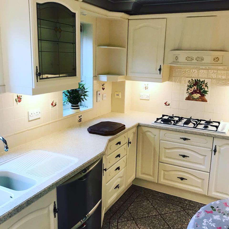 Kitchen one sprayed